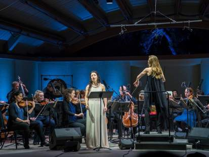 Lonely Child by Claude Vivier, Barbara Hannigan conducting the Ludwig Orchestra, Ojai Music Festival 2019